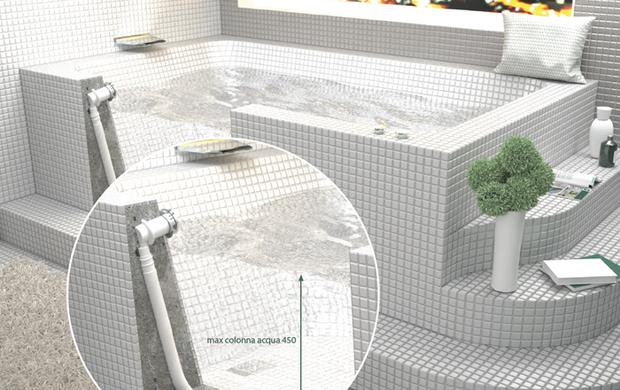 Scarico per vasche in muratura infoimpianti - Sifone vasca da bagno ...