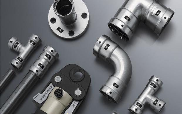 Raccordi a pressare per tubi in acciaio
