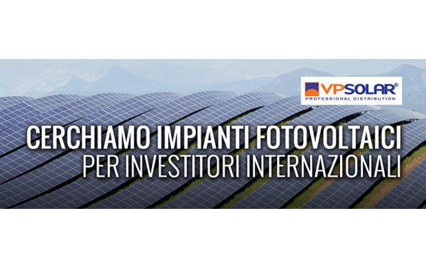 VP Solar crea il servizio Grandi Impianti