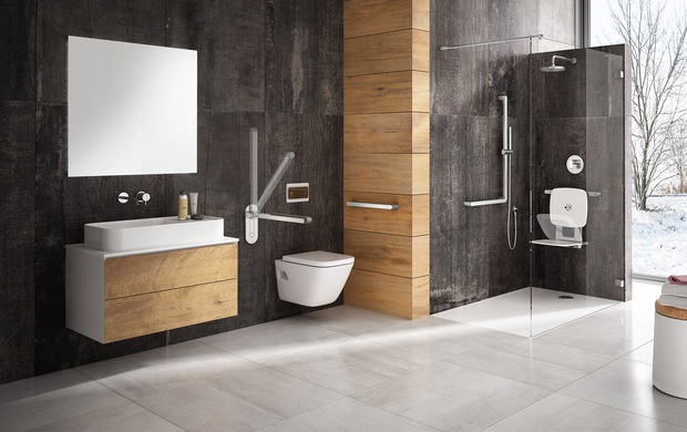 Sistema di maniglioni per bagno
