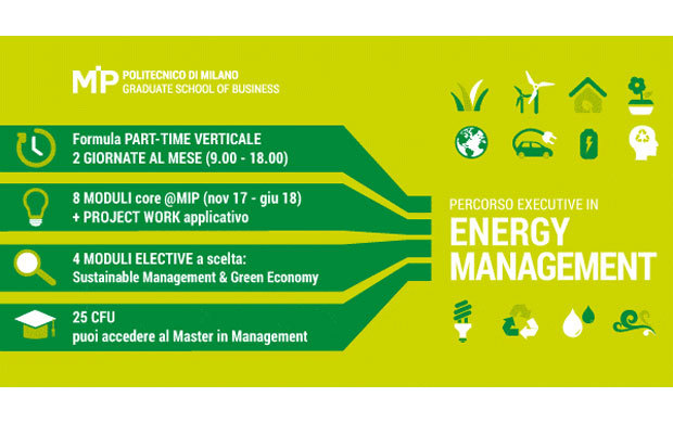Nuovo persorso Executive in Energy Management