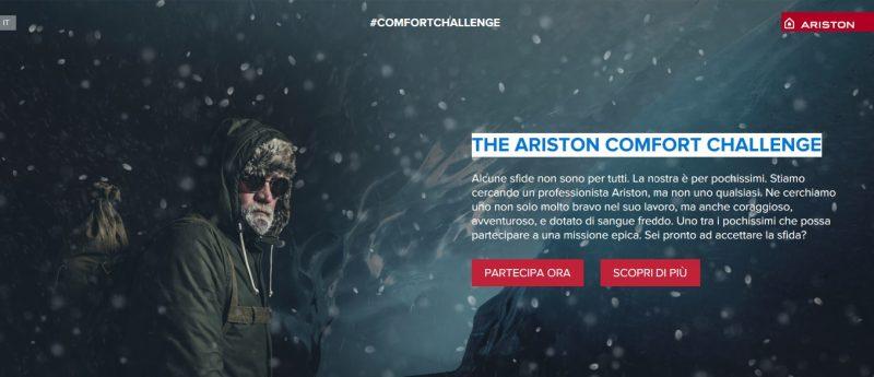 Ariston lancia la #comfortchallenge