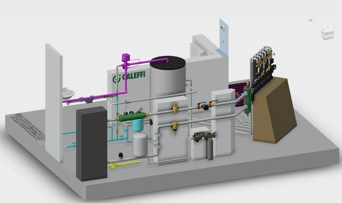 Caleffi realizza una centrale termica completa in BIM