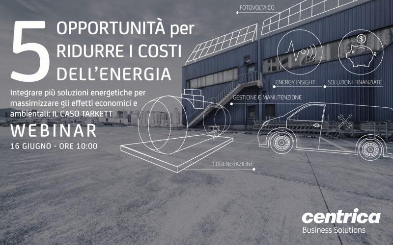 """Webinar """"5 opportunità per ridurre i costi dell'energia"""""""