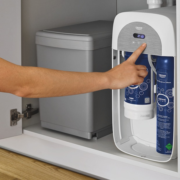 L'acqua del rubinetto passa da Grohe Blue Home e Grohe Red
