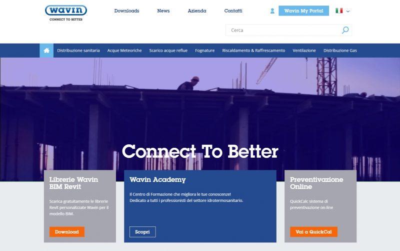 Wavin Italia è online con un nuovo sito web