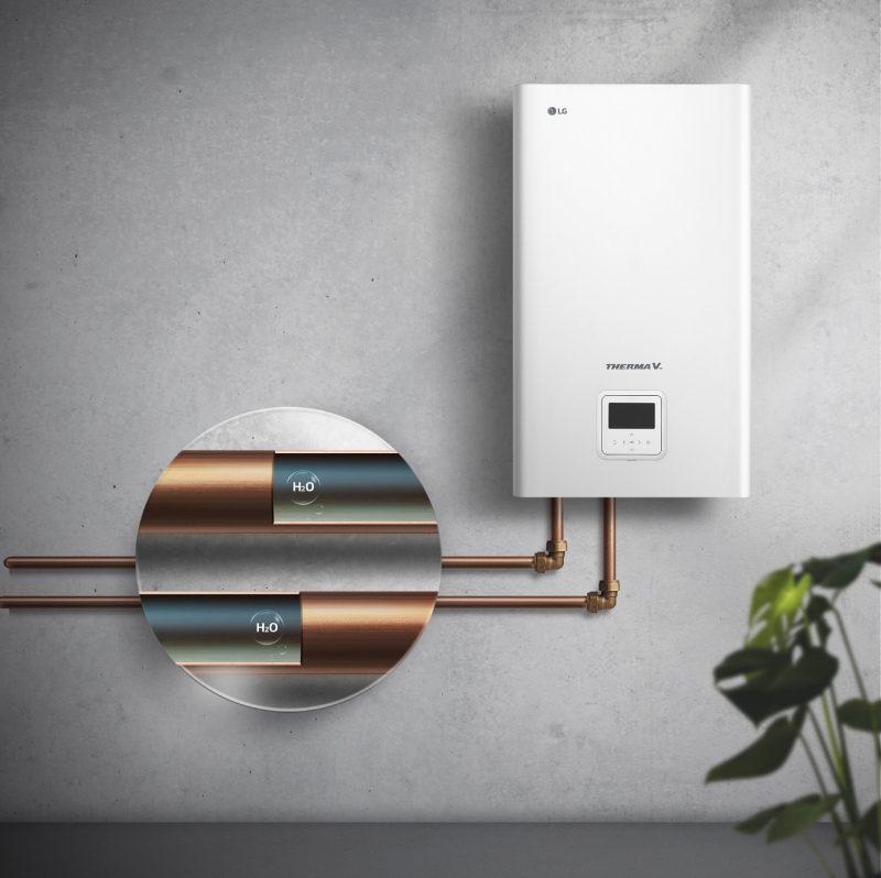Pompa di calore aria-acqua LG Therma V Hydrosplit