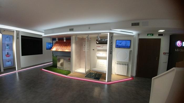 Nuovo showroom LG e l'Academy della Divisione Air Conditioning