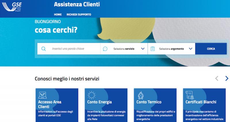 Online il nuovo portale GSE