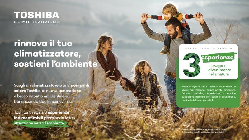 Promozione ecosostenibile Toshiba regala Green Experiences