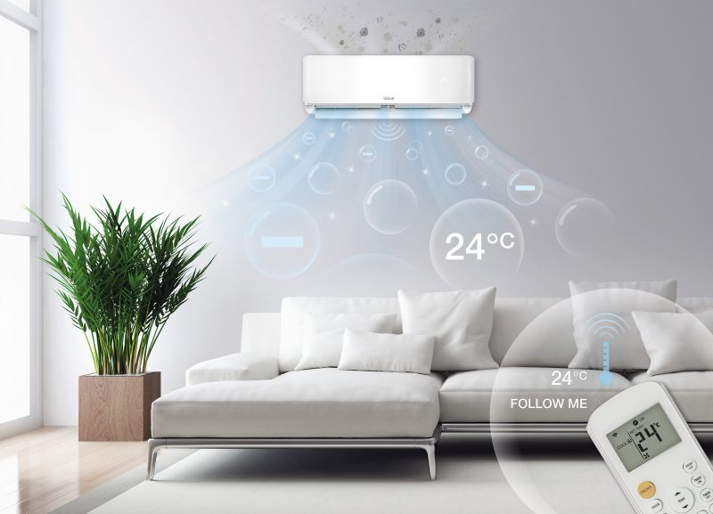 Yon, il climatizzatore di Unical con ionizzatore integrato