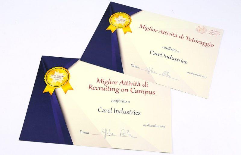 Carel riceve due prestigiosi riconoscimenti dall'Università di Padova