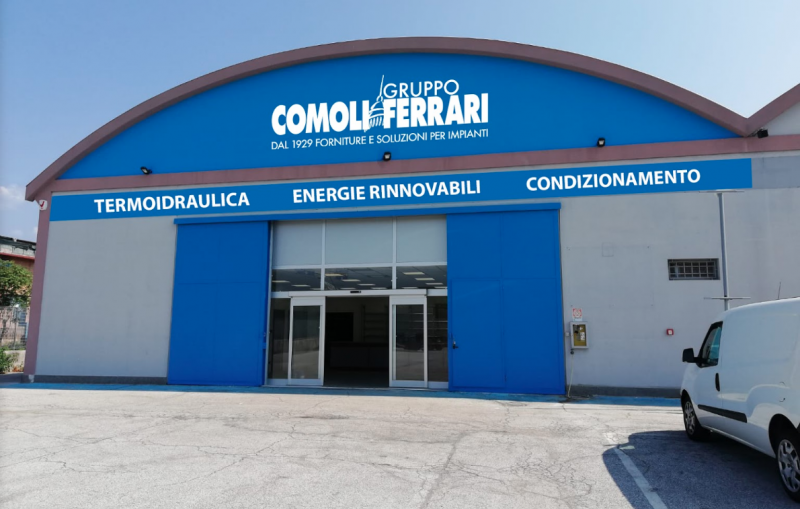 Comoli Ferrari apre il suo primo punto vendita idrotermosanitario