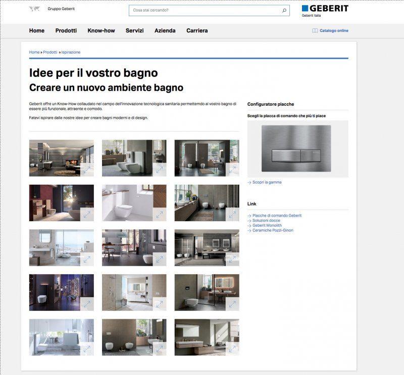 """Nuovo """"look"""" per il sito Geberit"""