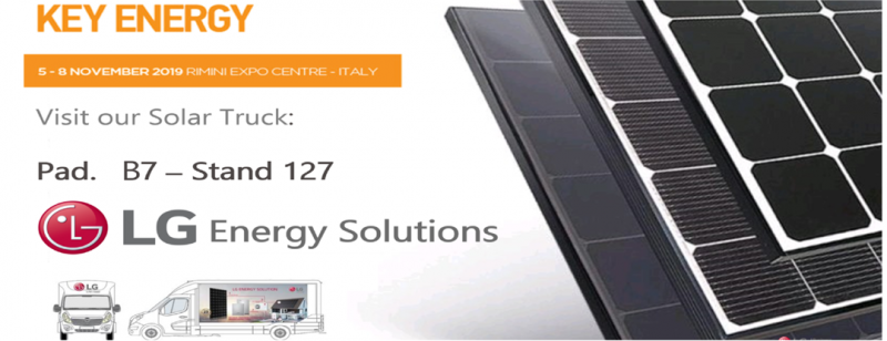 Soluzioni LG per l'energia solare a Key Energy 2019