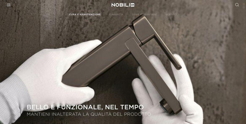 Online il catalogo tutto Made in Italy di Nobili