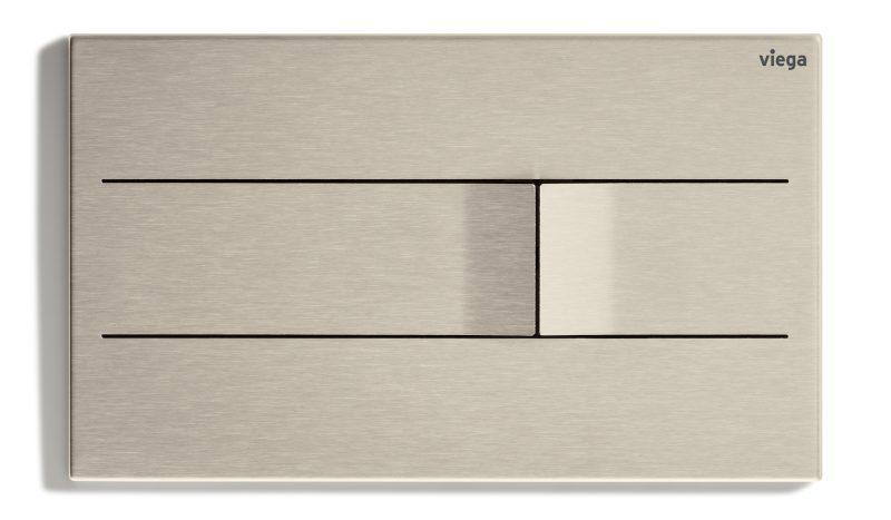Placca di comando elettronica in acciaio Viega Visign for More 201